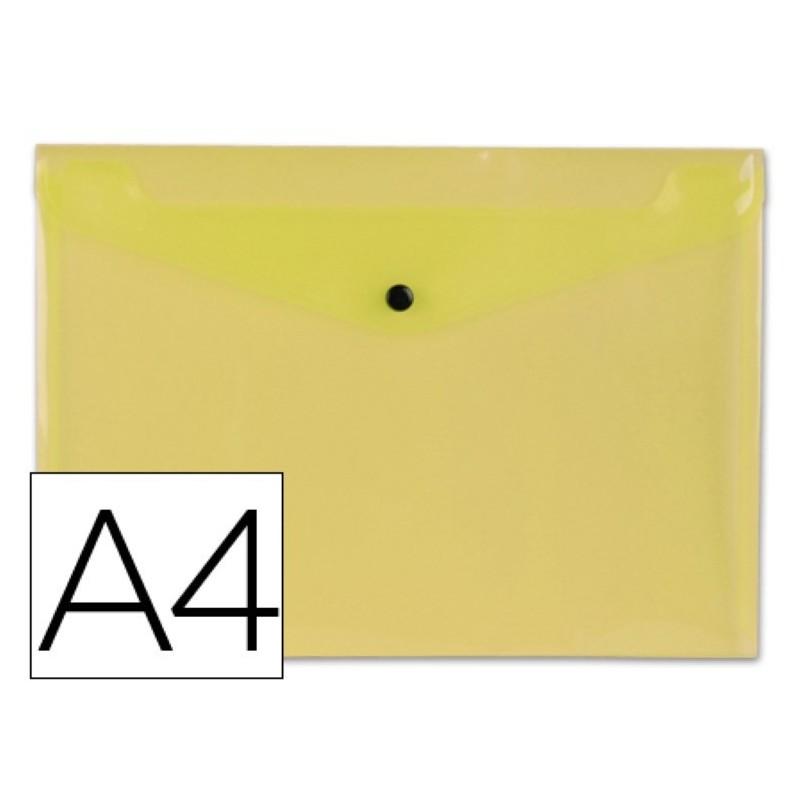 Carpeta dossier con broche amarilla transparente