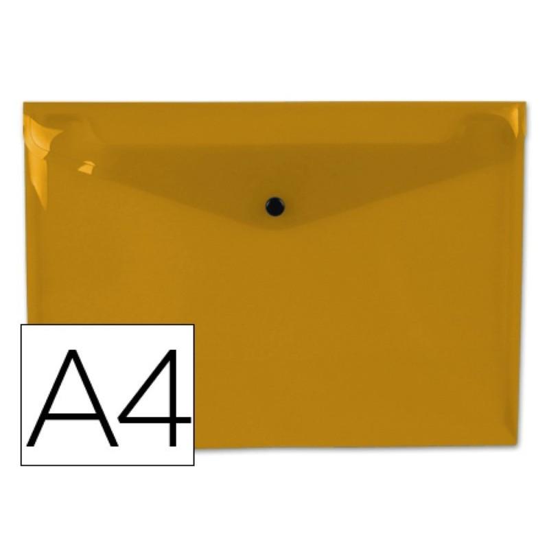Carpeta dossier con broche naranja transparente