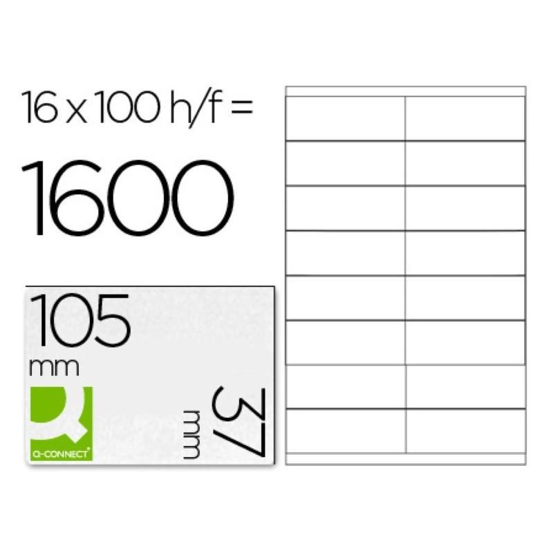 Etiquetas adhesivas 105x37mm 10654