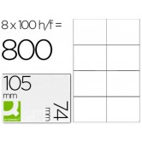 Etiquetas adhesivas 105x74mm 10659