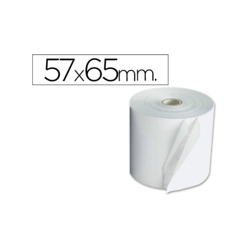 Rollo de papel para sumadora 57x65. Pack 10