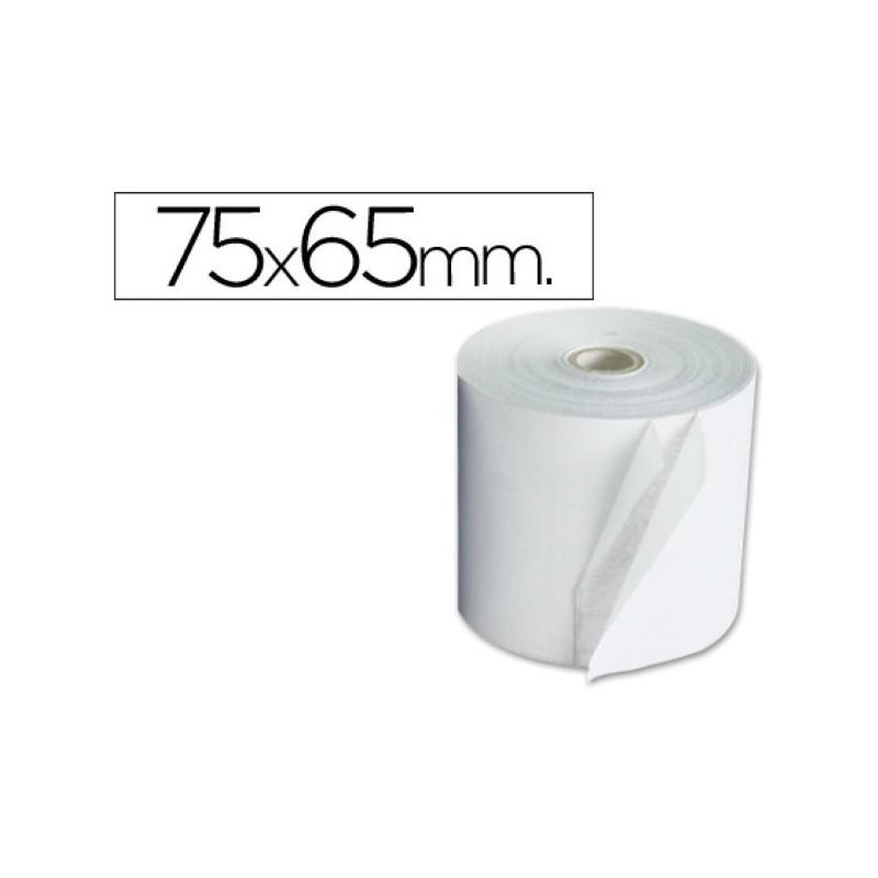 Rollo de papel para sumadora 75x65. Pack 10