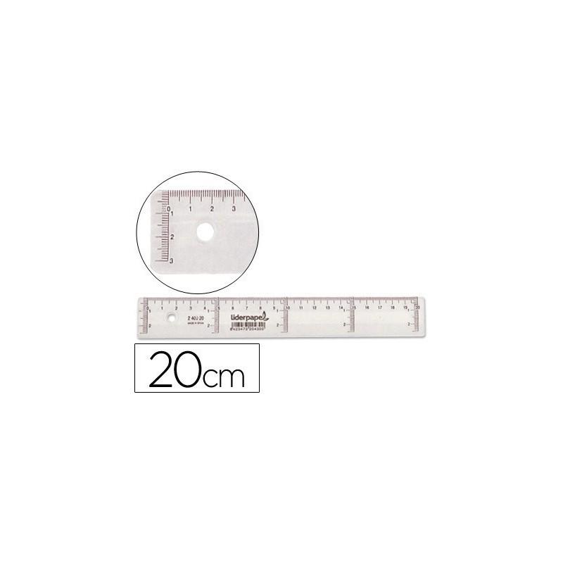Regla de plastico cristal 20cm