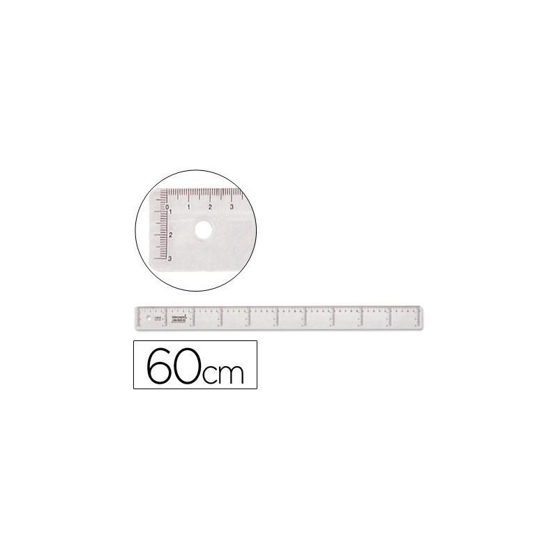 Regla de plastico cristal 60cm