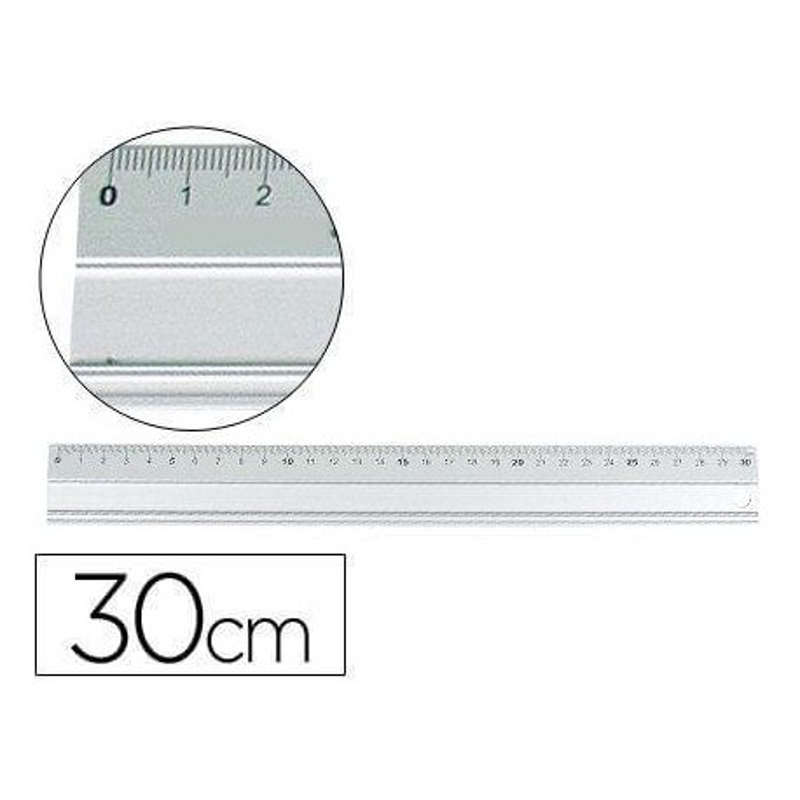 Regla metalica 30cm