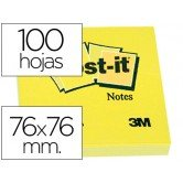 Post-it 76 X 76 notas adhesivas amarillas 654