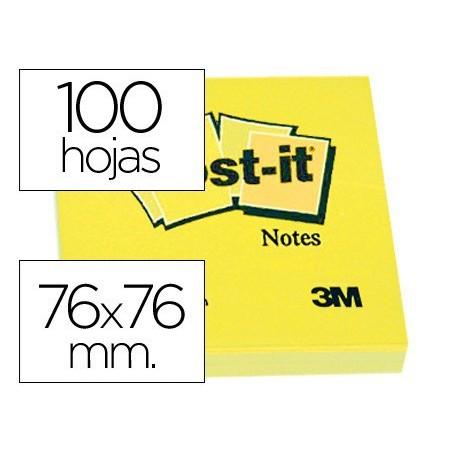 Post-it 76 X 76 notas adhesivas amarillas 654