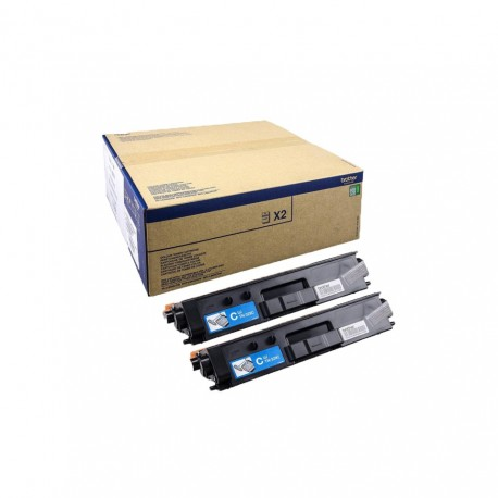 Toner Brother TN329C pack doble cian original twin