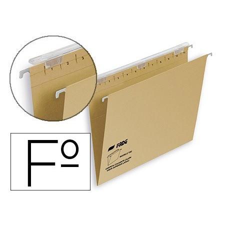 Carpeta colgante folio kraf visor superior largo