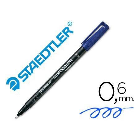 Rotulador Staedtler lumocolor fino azul 318-3