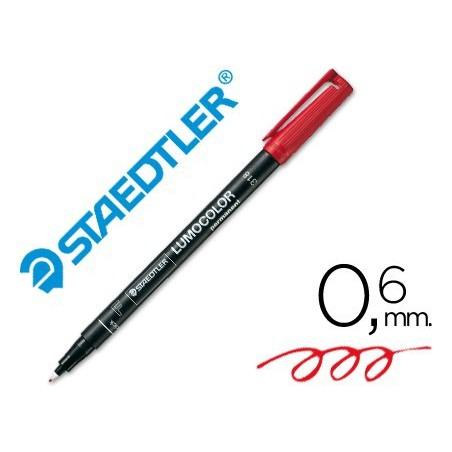 Rotulador Staedtler lumocolor fino rojo 318-2