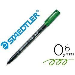 Rotulador Staedtler lumocolor fino verde 318-5