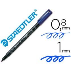 Rotulador Staedtler lumocolor medio azul 317-3