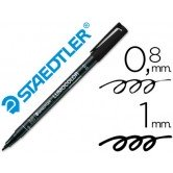 Rotulador Staedtler lumocolor medio negro 317-9