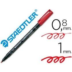 Rotulador Staedtler lumocolor medio rojo 317-2