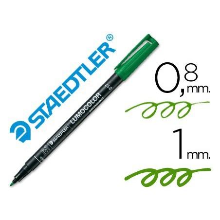 Rotulador Staedtler lumocolor medio verde 317-5