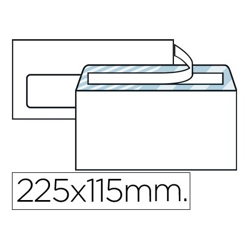 SOBRE BLANCO 115X225mm (AMERICANO ) V/I