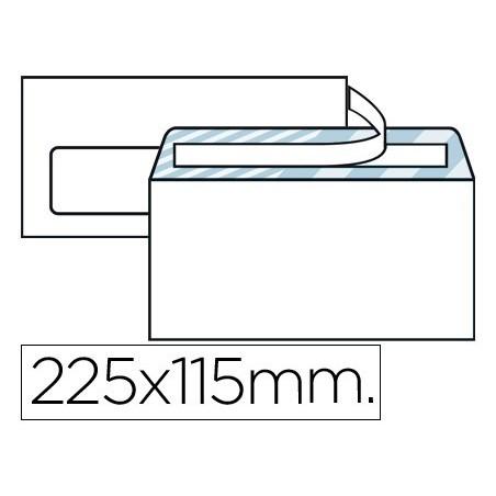 Sobre blanco 115X225mm (Americano) V/I