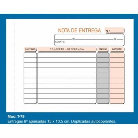 Talonario de entrega Loan T79 1/8 duplicado apaisado