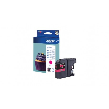 CARTUCHO DE TINTA BROTHER LC123M MAGENTA