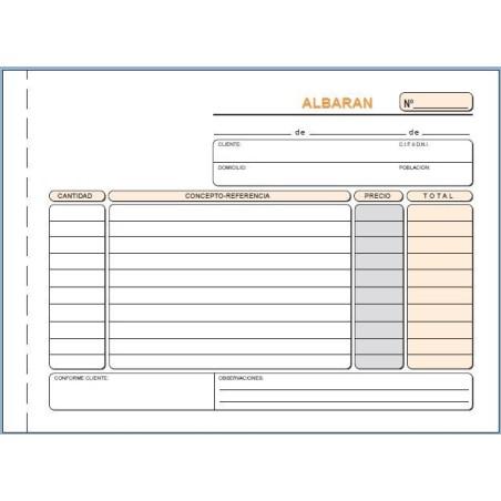 Talonario albaranes Loan T119 1/4 apaisado duplicado