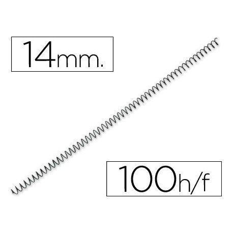 Espiral metalico paso 64 5:1 14mm