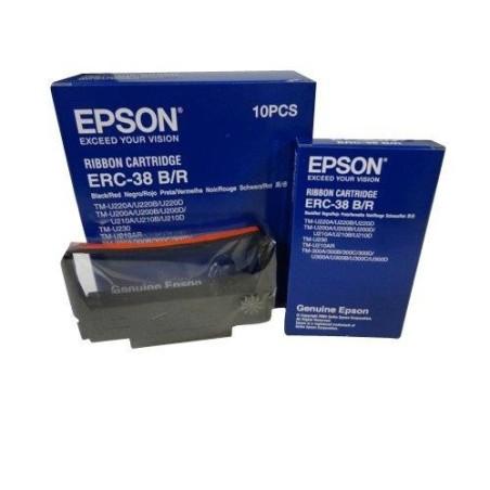 Epson ERC-38BR cinta negra-roja original C43S015376