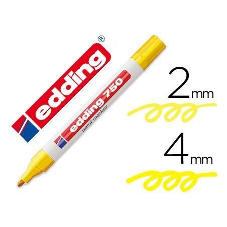 Edding 750 paint marker rotulador permanente amarillo