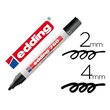 Edding 750 paint marker rotulador permanente negro
