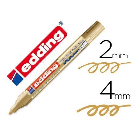 Edding 750 paint marker rotulador permanente oro