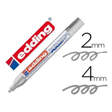 Edding 750 paint marker rotulador permanente plata