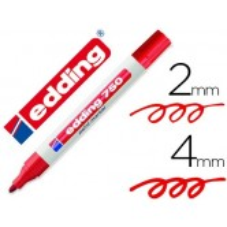 Edding 750 paint marker rotulador permanente rojo