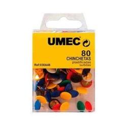 Chincheta de colores Umec 80 unidades