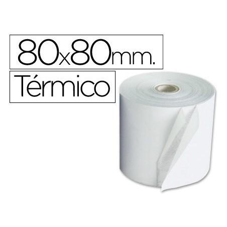 Rollo de papel termico 80x80. Pack 8