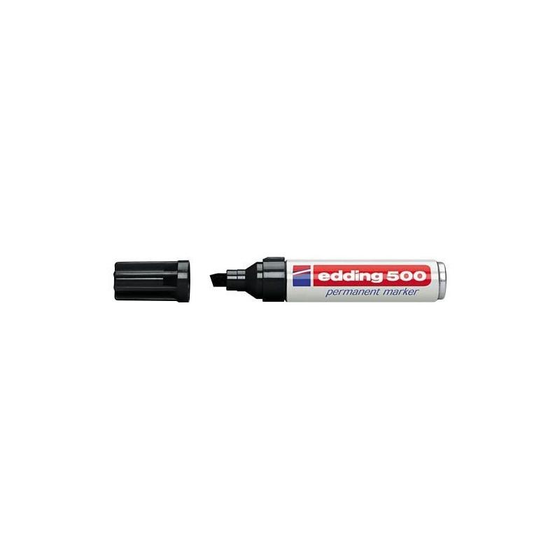 Edding 500 marcador permanente punta biselada negro