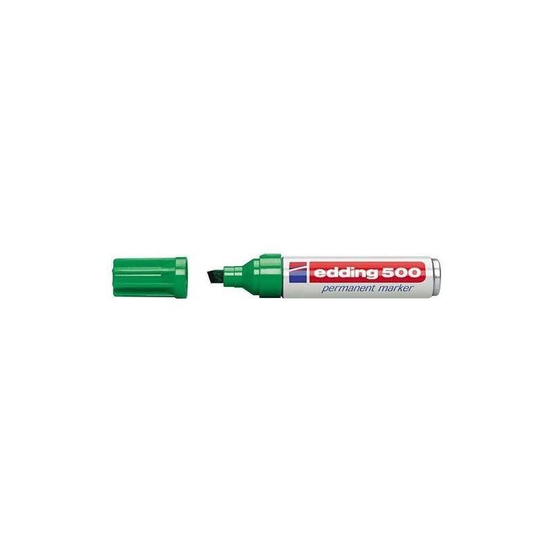 Edding 500 marcador permanente punta biselada verde