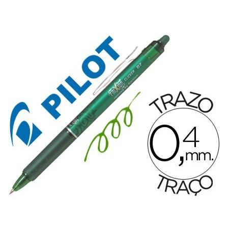 Pilot Frixion Clicker boligrafo borrable verde 0,7 BLRT-FR7G