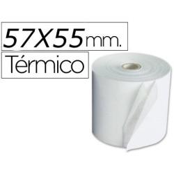Rollo de papel termico 57x55. Pack 10