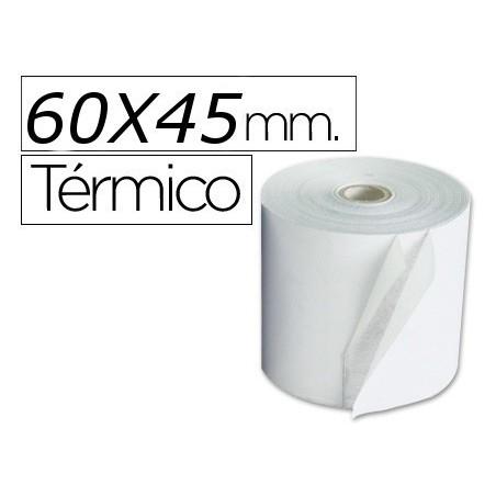 Rollo de papel termico 60x45. Pack 10
