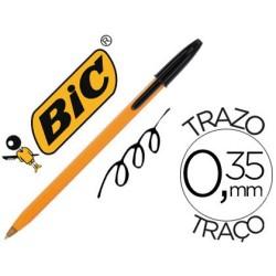 Boligrafo bic naranja negro fino