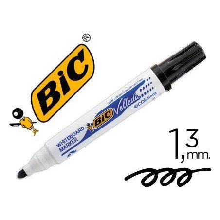 Rotulador Bic Velleda 1701-09 negro para pizarra blanca