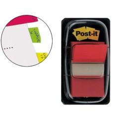 Post-it dispensador de 50 index rojo 680-1
