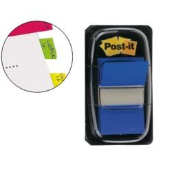 Post-it dispensador de 50 index azul 680-2