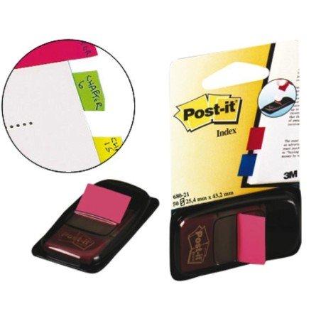 Post-it dispensador de 50 index rosa brillante 680-21