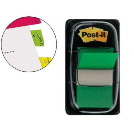 Post-it dispensador de 50 index verde 680-3