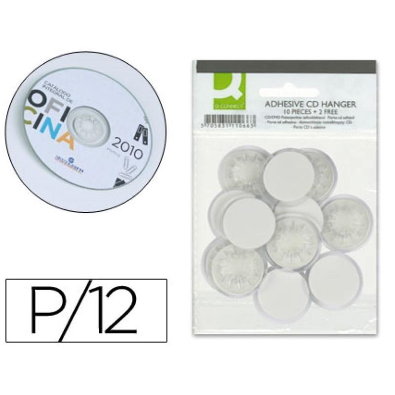 Soporte adhesivo para CD-DVD