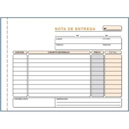 Talonario de entrega Loan T49 1/4 duplicado apaisado