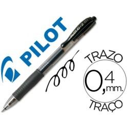 Boligrafo Pilot G-2 retractil negro tinta gel con grip