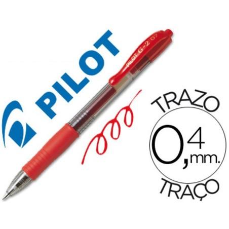 Pilot g-2 rojo boligrafo tinta gel