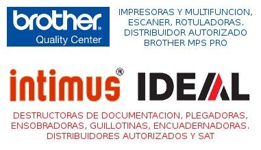 Distribuidores Brother Intimus Ideal